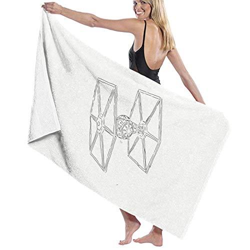 U/K Toalla de baño Star Wars Tie Fighter de secado rápido