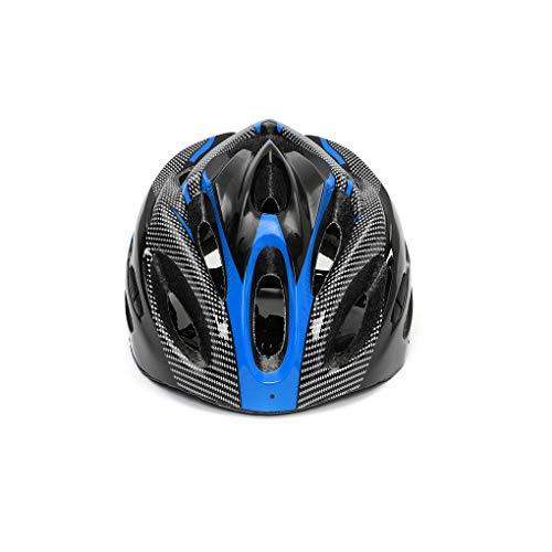 LafyHo Las Correas Ajustables Fibra de Carbono de Carretera de montaña Casco de la Bici Hombres Mujeres Bicicletas en Las Transpirable Casco de Ciclista Color al Azar