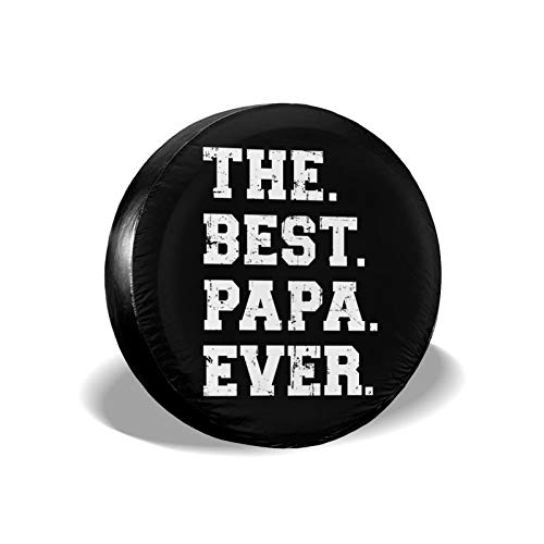 KXT Best Papa Ever2 Spare Tire Covers,Dust-Proof Sunscreen Weather-Proof Tire Cover for Jeep RV SUV Truck Camper Accessories