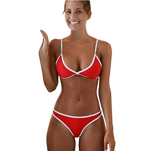 OSYARD Damen Tankinis Bikinis Bademode,Frauen Bikini Set Push-Up Gepolsterter BH Badeanzug Zweiteilige Swimsuit,Beachwear Sport Schwimmanzug Strandmode Zwei Stück Triangel Swimwear Strandkleidung