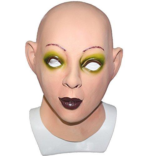 Halloween-kostuum Latex vrouwelijk gezichtsmasker Crossdresser Man-masker
