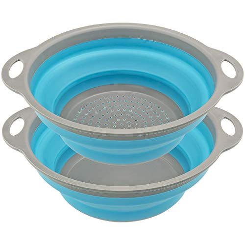 Collapsible Drainer & Bowl Set - Southern Homewares - Strainer Kitchen Pack for Preparing and Cooking