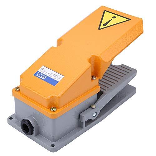 Controlador de pie de carcasa de aluminio industrial interruptor de pedal con contacto instantáneo para equipo de máquina y herramientas