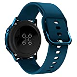 BarRan Strap Replacement for Nokia Steel HR 40MM/ Withings Steel HR 40MM/ Moto 360 2nd Gen Men's 42mm, 20MM Silicona Suave Correa de Reloj Correa de Repuesto Quick Release Watchband