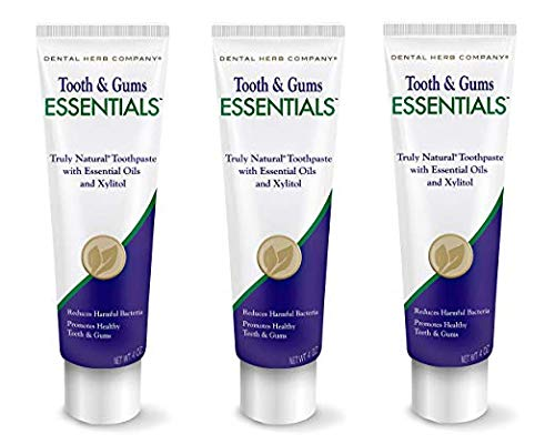Dental Herb Company - Essentials Toothpaste (4 oz.) Fluoride-Free & Antimicrobial for Whole Mouth Protection (3 Pack)