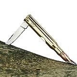 TS Knife Navaja BULLET 45 | Mini navaja en forma de bala | Longitud de la hoja: 4,5cm | Navaja de bolsillo para exterior y campamento | Hoja de acero inoxidable | Cuchillo Senderismo, Camping