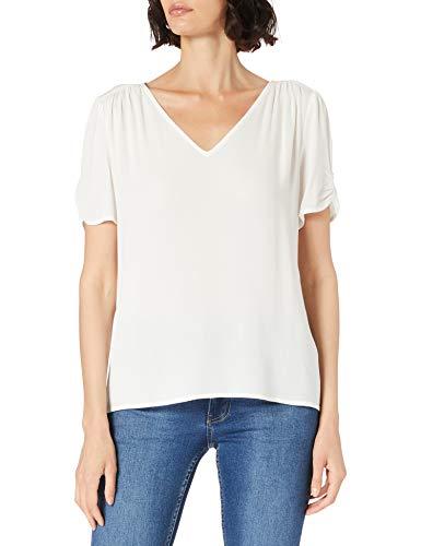 edc by ESPRIT Damen 031CC1F312 Bluse, Off White (110), XXS