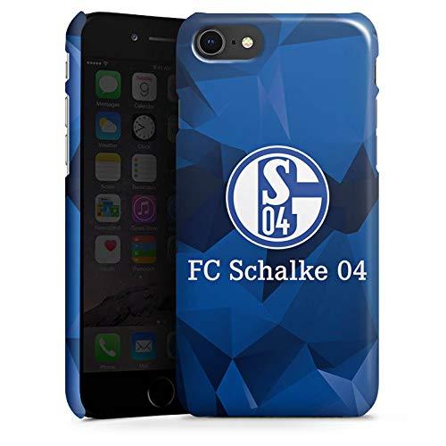 DeinDesign Premium Case kompatibel mit Apple iPhone SE (2020) Smartphone Handyhülle Hülle glänzend FC Schalke 04 Muster Offizielles Lizenzprodukt