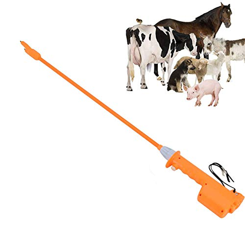 Hot Shot Cattle Prod Livestock 41.3 inch (103CM) Animal Electric Prod Hot Shock Removable Hand Batteries-Operated Prod Shock for Farm Cow Pig Goats