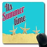 滑り止めマウスパッド耐久性のあるワード夏休みコンセプトビーチ海岸長方形長方形ゲーミング滑り止めマウスパッド耐久性のある滑り止めラバーマット
