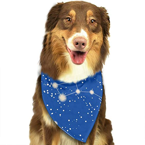 Sterren en sterrenbeelden Blauw Flash Gepersonaliseerde Hond Kattenhalsdoek Set Geschikt voor Kleine tot Grote Hond Katten