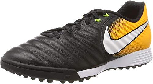 Nike Tiempox Ligera IV Tf, Scarpe da Calcio Uomo, Nero (Black/White-Laser Orange-Volt), 40 EU