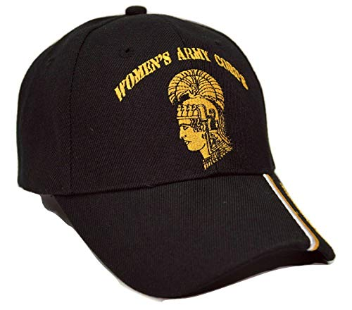 Trade Winds Women's Army Corps U.S. Army Black WAC Embroidered Cap Hat CAP564 (TOPW)