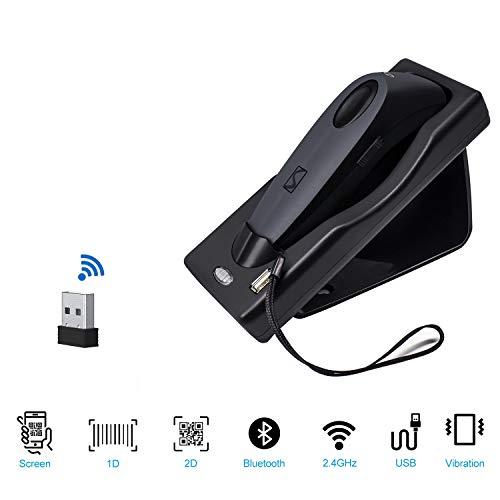 USB Wireless Barcode Scanner, Data Matrix Code Reader Mobile Telefon Zahlung Computer PC-Scanner R40-2D