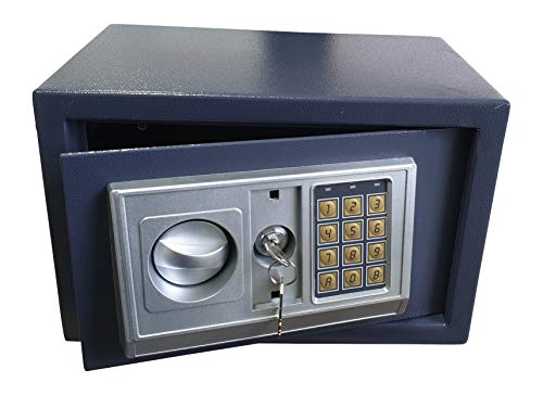 Gardopia Tresor elektrisch mit Zahlenfeld - aus Stahl - Maße 35 x 25 x 25cm