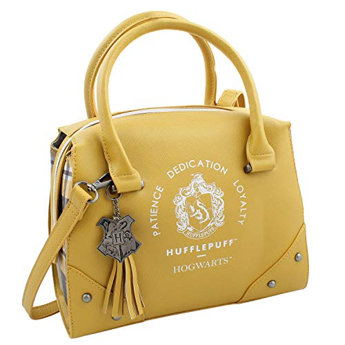 Harry Potter Purse Designer Handbag Hogwarts Houses Womens Top Handle Shoulder Satchel Bag Hufflepuff