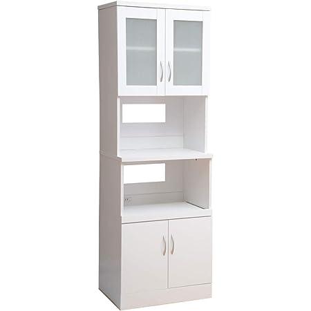 ワイエムワールド 食器棚 レンジボード 高さ180 幅60cm ホワイト 00-HN-1860RE