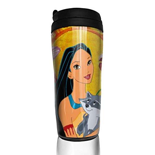 Anime Pocahontas y Meeko Taza de café reutilizable Vaso Termico Café Termo Taza Termica Viaje Botella Acero Inoxidable