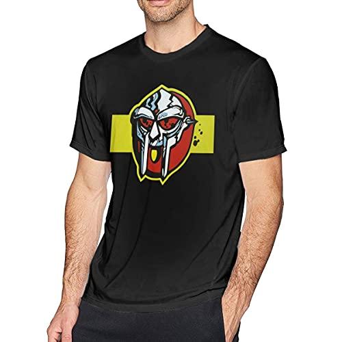 Camiseta de Manga Corta de Moda para Hombre MF Doom, Negra como Imagen 4XL