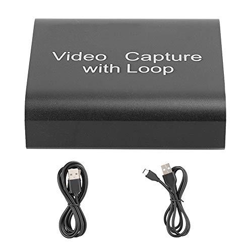 Tarjeta de Captura de Video HDMI con Lazo, Adaptador de Grabadora de Video de Juegos Full HD 1080P para Transmisión en DVD PS4