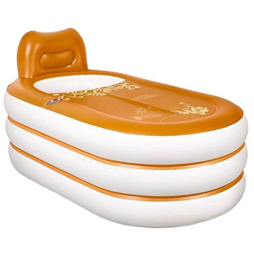 Orange home aufblasbare Wanne erwachsene faltende Plastikbadwanne waschwanne erwachsene Badewanne romantischer Komfort bequemer Luxus (152 * 85 * 75 cm)