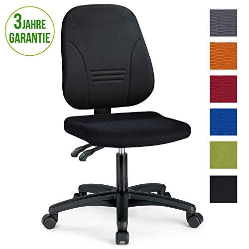 prosedia® Younico Plus 3 – Top Bürostuhl/Schreibtischstuhl – sehr ergonomisch - Made in Germany - TÜV Rheinland geprüft und Zertifiziert (Ohne Armlehnen, Schwarz)