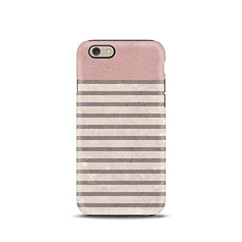 Rosa Righe Geometrico cover case custodia per iPhone 5, 5s, SE 2016, 6, 6s, 7, 7 plus, 8, 8 plus, X, XS, 11, per Galaxy S6, S7, S8