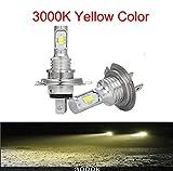 Luces led para Autos LED CSP Mini H7 Turbo Lámparas para automóviles Bombillas de Faros H4 H8 H8 H8 HB3 Light HB3 9005 HB4 Ice Blue 6500K Auto 12V Luces led para Coches