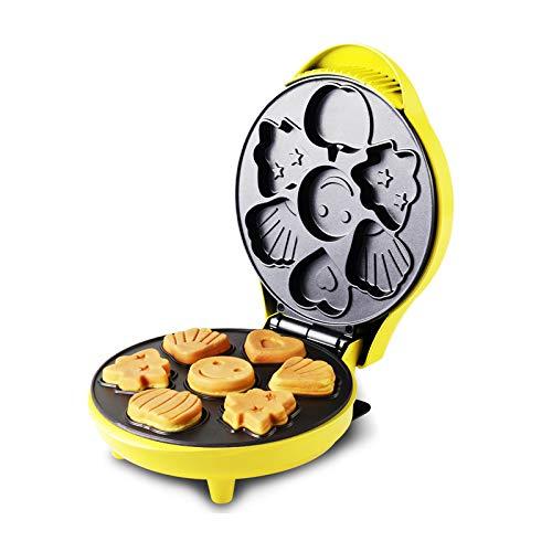 Máquina para hacer gofres redondos Calentador de doble cara Máquina para hacer gofres totalmente automática Hogar y cocina No pegajosa Fácil de limpiar Sandwichera para hacer galletas Cono para go
