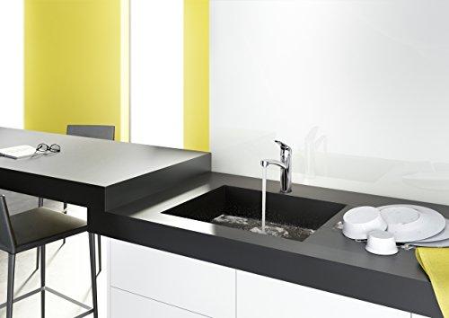 Hansgrohe 31806800 Focus grifo de cocina con caño giratorio 360º, acero inoxidable