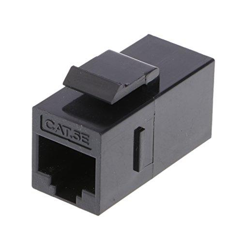 balikha Módulo Conector de Enchufe RJ45 de 2 Pines Cat5e Conector de Datos de Red de 180 Grados 8 P8C