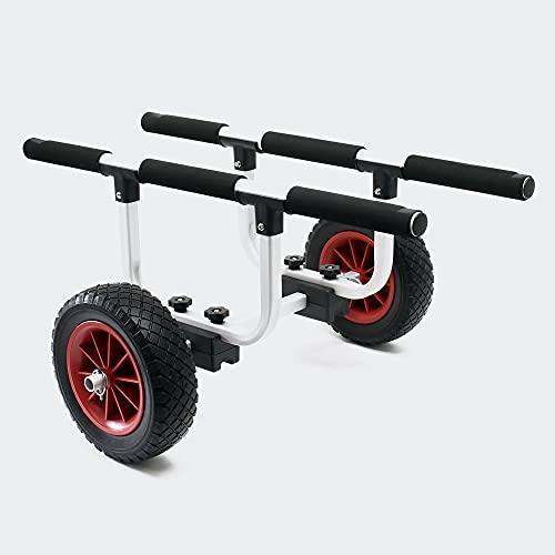 Chariot en aluminium 90kg roue PU Ø26cm et largeur de support réglable