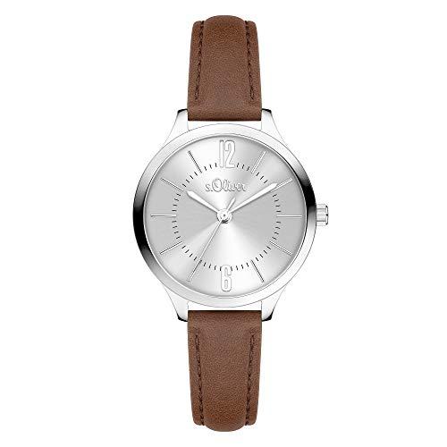 s.Oliver Time Damen-Armbanduhr (30, Braun)