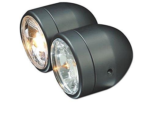Mini Doppelscheinwerfer schwarz (mit E-Prüfzeichen), EAN: 4054783029839