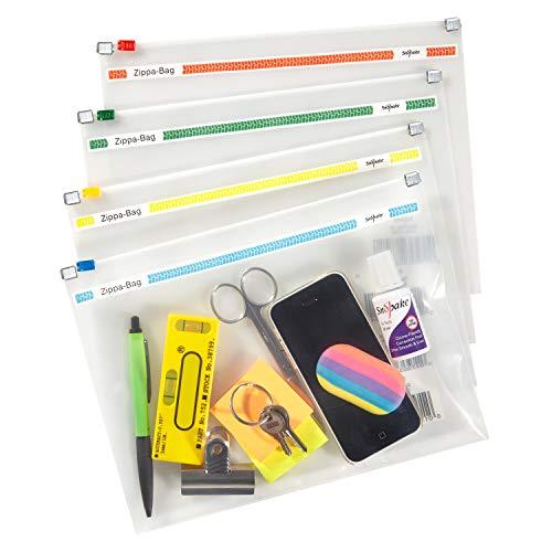 Snopake Zippa Bag Zipperbeutel A5 250 x 180 mm 25 Stück transparent/farblich sortiert