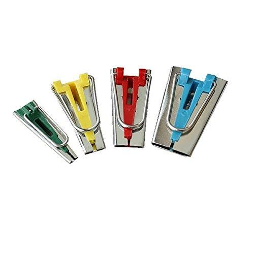 Tinksky unies Lot de 4 dimensions Makers Ruban tissu Bias association instruments à coudre 12 mm Gauche 6 mm 18 mm-25 mm