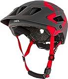 O'NEAL | Casco para Bicicleta de montaña | Enduro All-Mountain | Rejillas de ventilación, Almohadillas Lavables, Norma de Seguridad EN1078 | Casco Defender Nova | Adultos | Gris Rojo | Talla XS/M