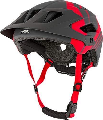 O\'NEAL   Mountainbike-Helm   Enduro All-Mountain   Belüftungsöffnungen für Kühlung, Polster waschbar, Sicherheitsnorm EN1078   Helmet Defender Nova   Erwachsene   Rot Grau   Größe L/XL