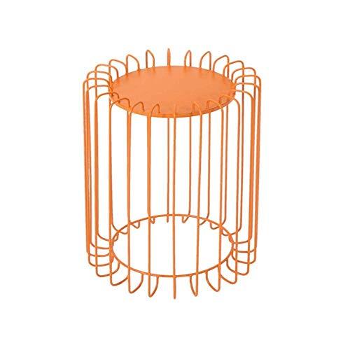 NBVCX Möbel Dekoration Metall Beistelltisch Einfacher Couchtisch für Wohnzimmer/Balkon/Cafe/Bekleidungsgeschäft Kleiner Tisch Dreifarbiger Kombinations-Beistelltisch Blau 38x38x52cm