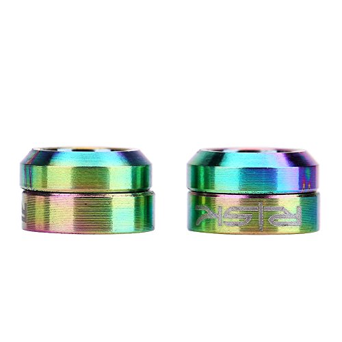 Dilwe Bicycle Headset Spacer, 2 Pairs TC4 Titanium Front Brake Caliper Gasket for Mountain Bike Motorcycle(Colorful)