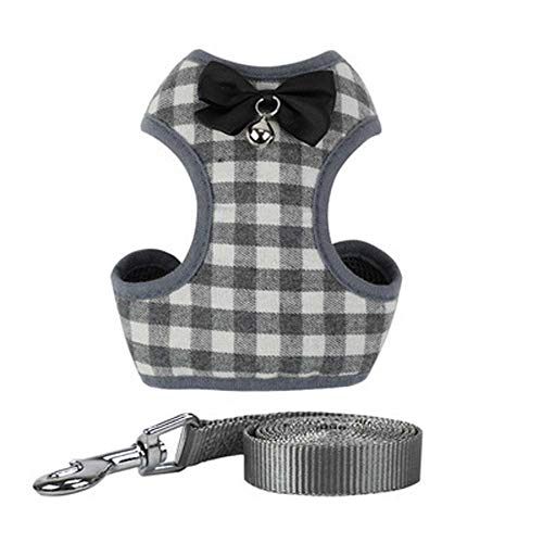 shenjin Pet Vest Harness Cat Reflective Harness Puppy Dog Harness Cat Collar Leads Leash Dog Vest for Small Medium Pet Suppliers(S Grey)