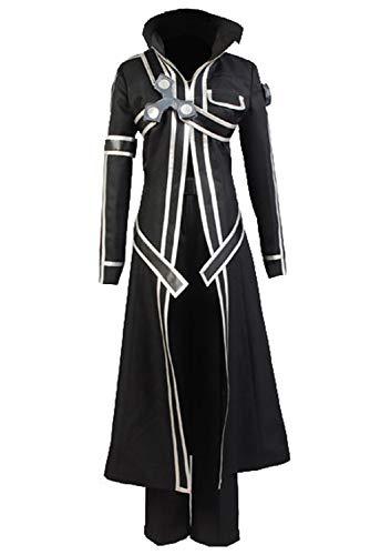 Ya-cos Halloween Costume Men's Kirito Anime Cosplay Battle Suit ,Black,X-Large