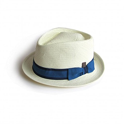 DASMARCA-Collection été-Chapeau de Paille Porkpie Blanc-La Havane-L