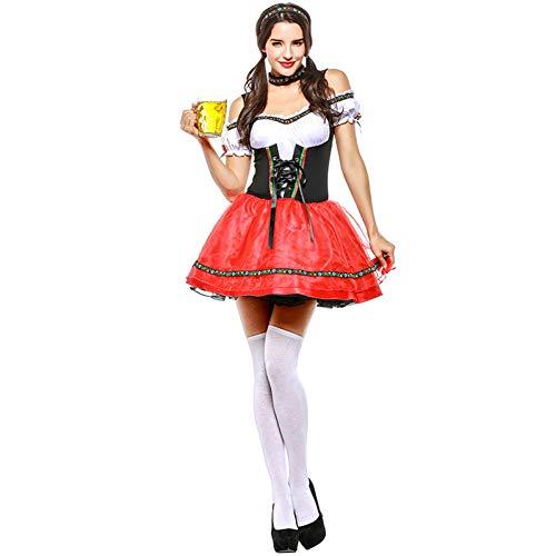 SDGFGW Halloween jurken Oktoberfest Kleding Bier Wear Restaurant Werkkleding Maid Wear Halloween