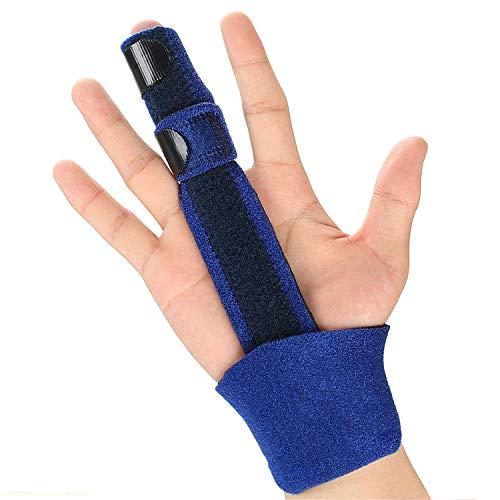 Trigger Finger Splint - Finger Brace voor immobilisatie van vingerknokkels, vingerbreuken, postoperatieve zorg en trigger voor pijnverlichting van de vinger, pak voor volledige vingers,Blue