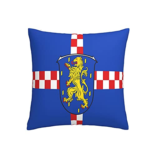 Kissenbezug mit Flagge von limburg-weilburg in Hessen Deutschland, quadratisch, dekorativer Kissenbezug für Sofa, Couch, Zuhause, Schlafzimmer, Innen- & Außenbereich, 45,7 x 45,7 cm