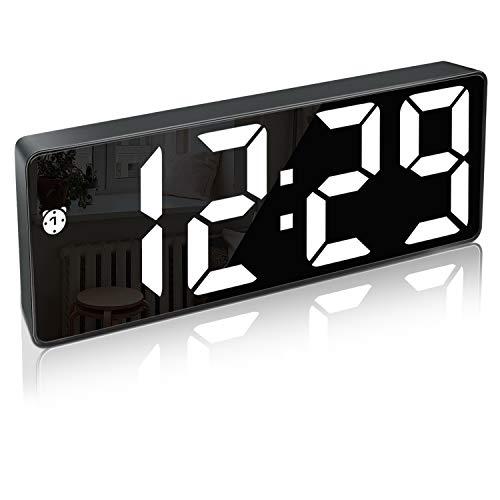 Digitaler Wecker, LED-Display mit großer Anzahl und Schlummerfunktion Helligkeit Einstellbarer USB-Ladegerät Wecker für Schlafzimmer Wohnzimmer Büro