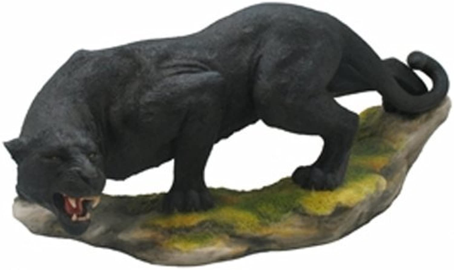 13.25 Inch Prowling Panther Decorative Statue Figurine, Black