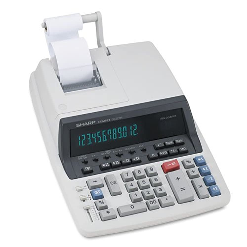 花束ブランデーきれいにqs-2770h 2色リボン印刷電卓、ブラック/レッド印刷、4.8?Lines /秒by : Sharp