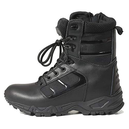 JXMES mannen militaire laarzen klimmen microvezel lederen laarzen wandelen tactische laarzen duurzame strijd laarzen Lace Up